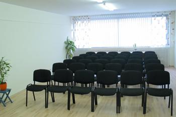 Seminarraum mit Sesselreihen