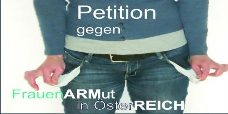 Foto Petition gegen Frauenarmut in Österreich